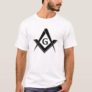 モダンな正方形およびコンパス Tシャツ