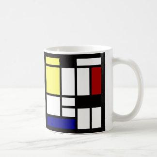 モダンな正方形の芸術 コーヒーマグカップ
