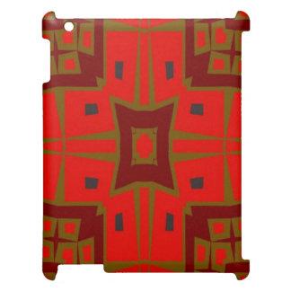 モダンな正方形パターン iPadケース