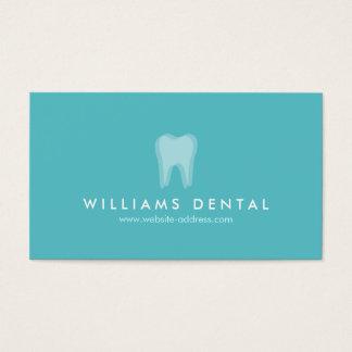 モダンな歯科医の水の歯のロゴ、歯科医院 名刺