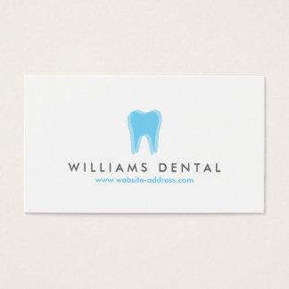 モダンな歯科医の青い歯のロゴ、歯科医院 名刺