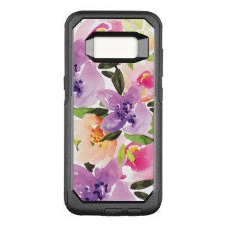 モダンな水彩画のカラフルなBohoの花 オッターボックスコミューターSamsung Galaxy S8 ケース