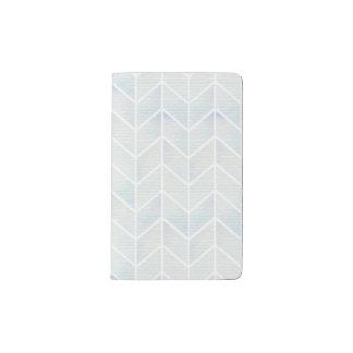 モダンな水彩画のパステル調の真新しいシェブロンパターン ポケットMoleskineノートブック