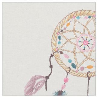 モダンな水彩画のbohoのdreamcatcherの羽 ファブリック