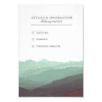 モダンな水彩画山の情報カード 8.9 X 12.7 インビテーションカード