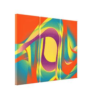 モダンな液体の抽象的概念 キャンバスプリント