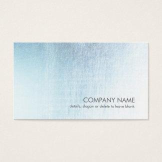モダンな淡いブルーのブラシをかけられた金属の一見の名刺 名刺