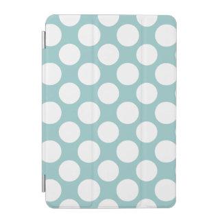 モダンな淡いブルーの白い水玉模様パターン iPad MINIカバー