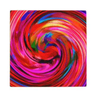 モダンな渦巻の抽象美術#9 ウッドコースター