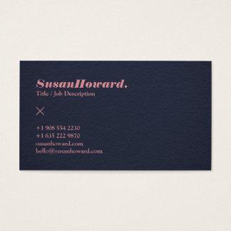 モダンな濃紺の紙の質のピンクのプロフェッショナル 名刺