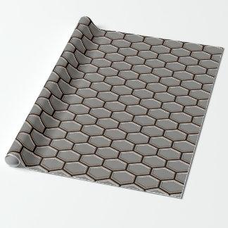 モダンな灰色のお洒落な六角形デザイナーオリジナル ラッピングペーパー