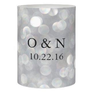 モダンな灰色のエレガントな結婚式Flameless LEDの蝋燭 LEDキャンドル