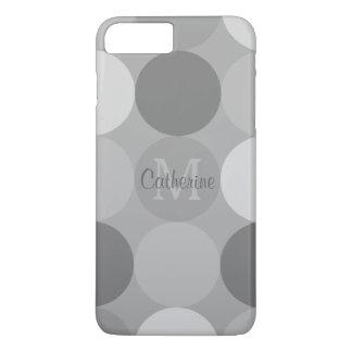 モダンな灰色の円パターンモノグラムのiPhoneの箱 iPhone 8 Plus/7 Plusケース