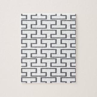 モダンな灰色の煉瓦 ジグソーパズル