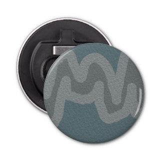 モダンな灰色の質のストライプの円形のオープナ 栓抜き