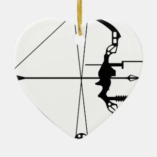 モダンな狩りの弓矢 セラミックオーナメント