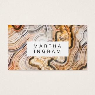 モダンな瑪瑙の抽象芸術のマクロデザイン 名刺