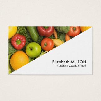 モダンな白人のカラフルな野菜栄養士のシェフ 名刺