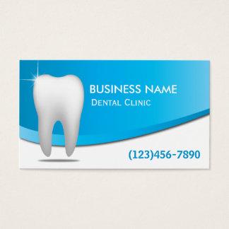 モダンな白人の歯のデンタルケアの歯科医 名刺