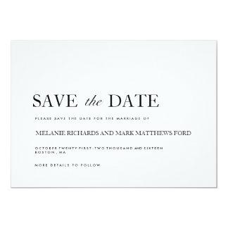 モダンな白黒セーブ・ザ・デート案内 カード