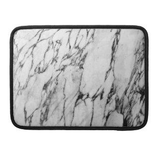モダンな白黒ファッションの大理石パターン MacBook PROスリーブ
