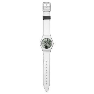モダンな白黒葉のデザイン 腕時計