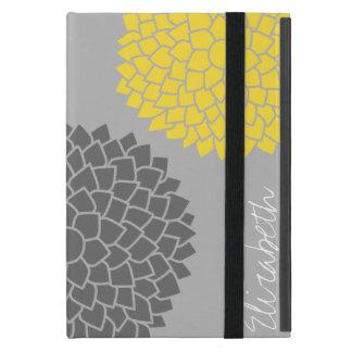 モダンな禅の花-黄色い灰色 iPad MINI ケース