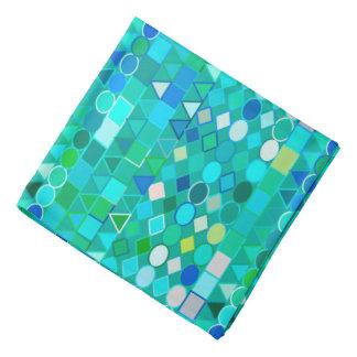 モダンな種族の幾何学的な、海のガラス水および青 バンダナ