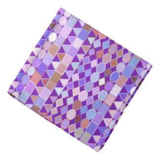 モダンな種族の幾何学的な、紫色の紫色および暗灰色 バンダナ