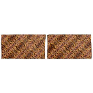 モダンな紅葉のシルエットパターン 枕カバー