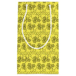 モダンな紅葉の明るい黄色 スモールペーパーバッグ