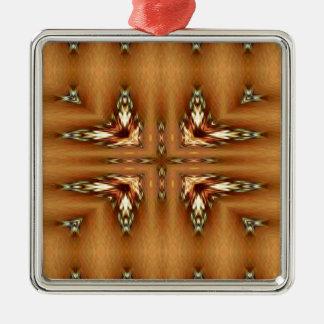モダンな紅葉の軽い対称パターン メタルオーナメント