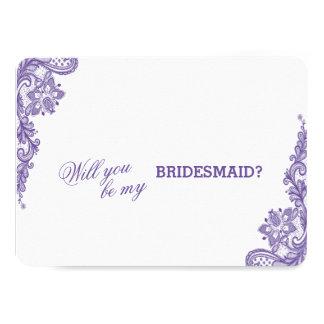 モダンな紫外レースの結婚式の新婦付添人 カード