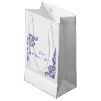 モダンな紫外レースの結婚式 スモールペーパーバッグ