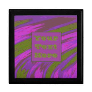 モダンな紫色の淡黄緑色の棒 ギフトボックス