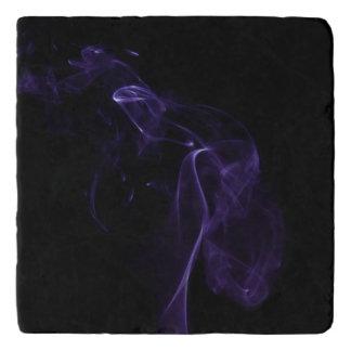 モダンな紫色の煙のデザイン トリベット