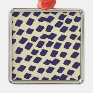 モダンな紫色の青の抽象芸術の正方形の野生動物 メタルオーナメント