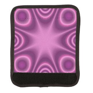モダンな紫色パターン ラゲッジ ハンドルラップ