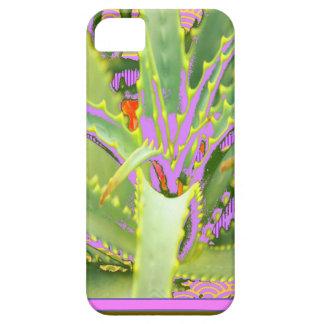 モダンな紫色ピンク緑のリュウゼツランのギフト iPhone SE/5/5s ケース