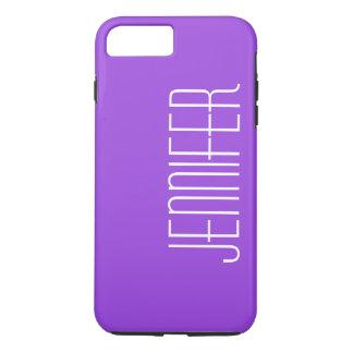 モダンな紫色、名前入りで、カスタムなジャンボ名前 iPhone 8 PLUS/7 PLUSケース