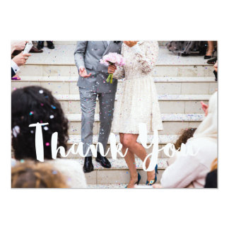 モダンな結婚式はあなたのカードを感謝していしています カード