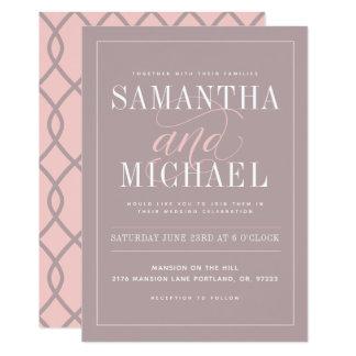 モダンな結婚式招待状 カード