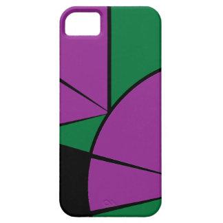 モダンな緑およびバイオレット iPhone SE/5/5s ケース