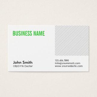 モダンな緑のタイトルOB/GYNの名刺 名刺