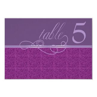モダンな織り方のプラムテーブルカード 8.9 X 12.7 インビテーションカード