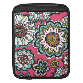 モダンな至福の花のiPadの袖 iPadスリーブ