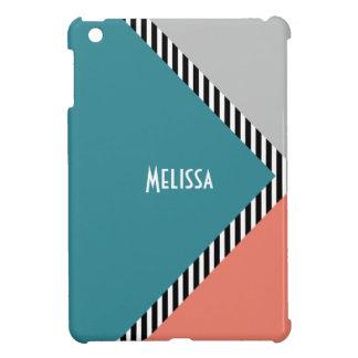 モダンな色のブロックの三角形は及び縞で飾ります iPad MINI CASE