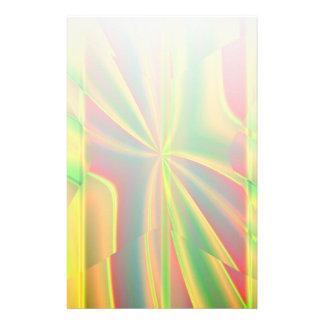 モダンな色のブロック金属レモンネオンの緑 便箋