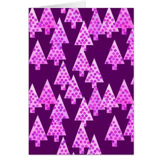 モダンな花のクリスマスツリー-紫色の紫色 ノートカード