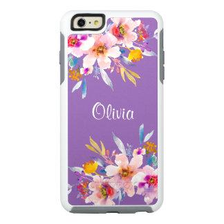 モダンな花の水彩画 オッターボックスiPhone 6/6S PLUSケース